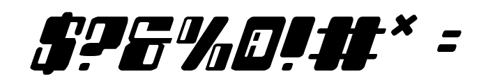 Zyborgs Italic Font OTHER CHARS