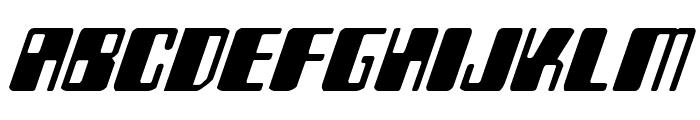 Zyborgs Italic Font UPPERCASE
