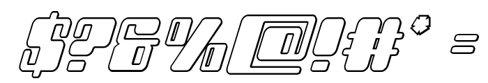 Zyborgs Outline Italic Font OTHER CHARS