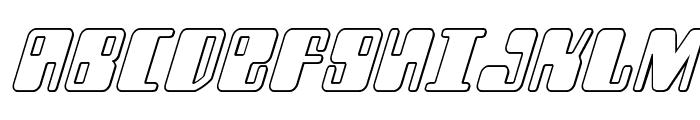 Zyborgs Outline Italic Font UPPERCASE