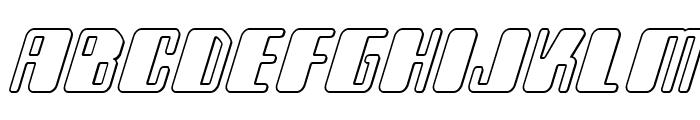 Zyborgs Outline Italic Font LOWERCASE