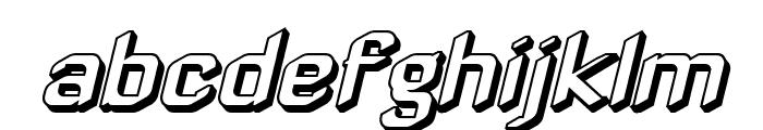 Zyphyte Offset Oblique Font LOWERCASE