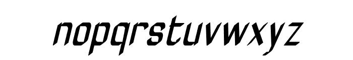 ZyphyteCondenseOblique Font LOWERCASE