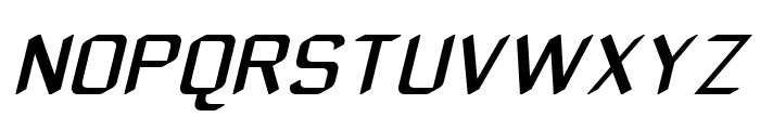 ZyphyteOblique Font UPPERCASE