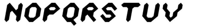 Zyprexia Bold Oblique Font UPPERCASE