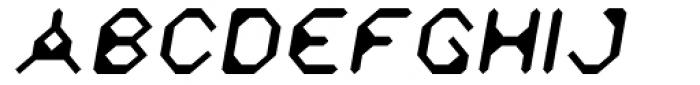 Zyprexia Light Oblique Font UPPERCASE