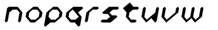 Zyprexia Light Oblique Font LOWERCASE