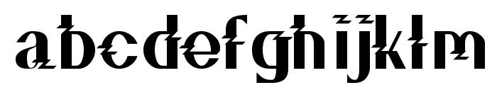ZZZ Top Font LOWERCASE