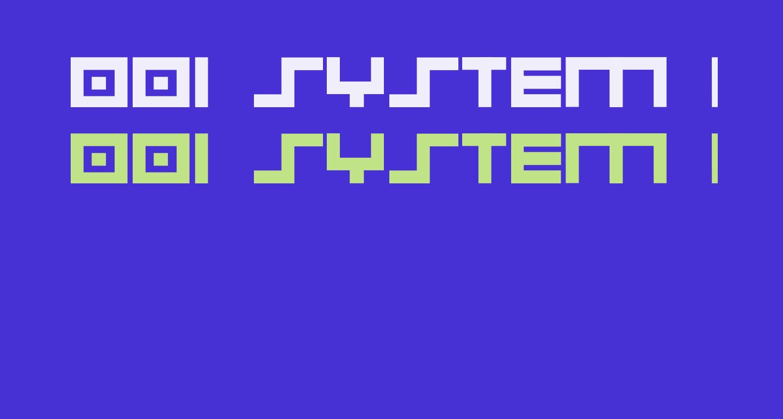 001 System Analysis Bold