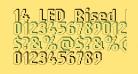 14 LED Rised Black