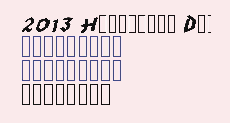 2013 Hexagonal Delight Heavy Italic Caps for PC