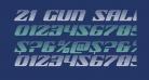 21 Gun Salute Gradient Italic