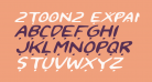 2Toon2 Expanded Italic