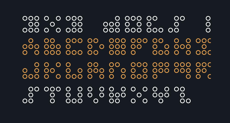 3x3 dots Outline
