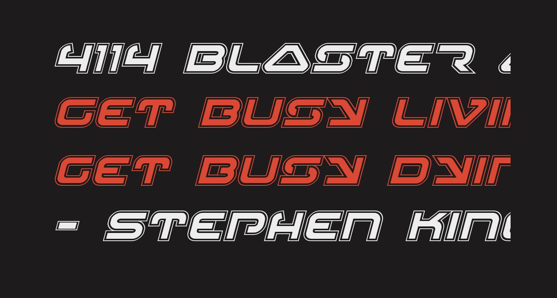 4114 Blaster Academy Italic