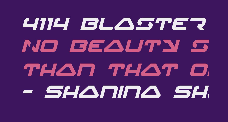 4114 Blaster Bold Italic