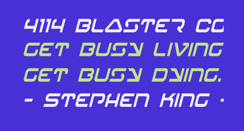 4114 Blaster Condensed Italic