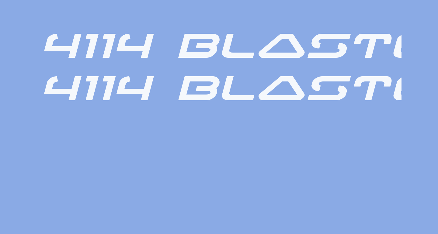 4114 Blaster Expanded Italic