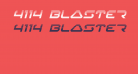 4114 Blaster Halftone Italic