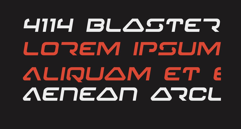 4114 Blaster Semi-Italic
