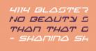 4114 Blaster Super-Italic