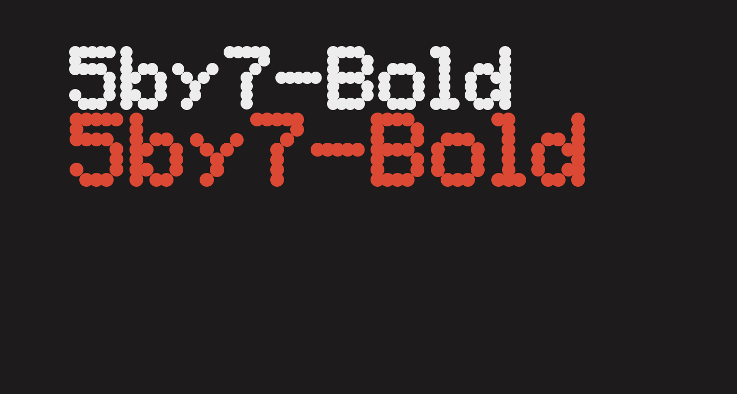 5by7-Bold