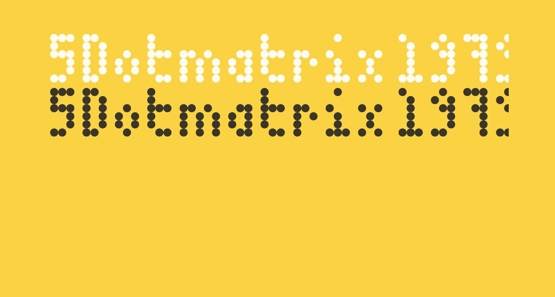 5Dotmatrix 1979 Regular