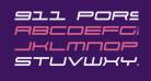 911 Porscha Semi-Italic