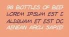 98 Bottles of Beer Condensed Italic