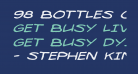 98 Bottles of Beer Expanded Italic