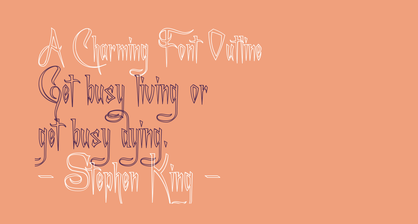 A Charming Font Outline