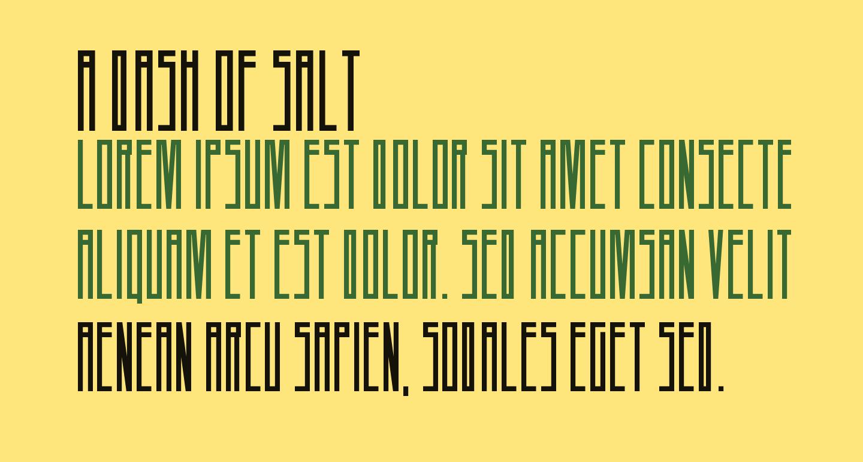 A Dash of Salt