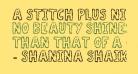 A Stitch Plus Nine