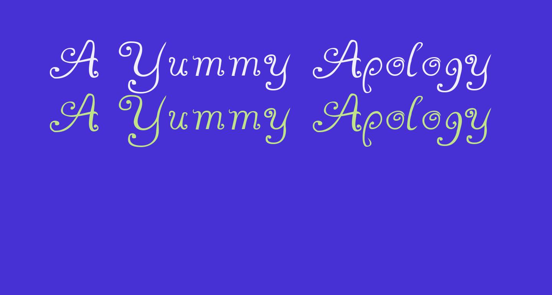 A Yummy Apology