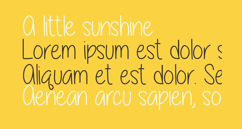 A little sunshine