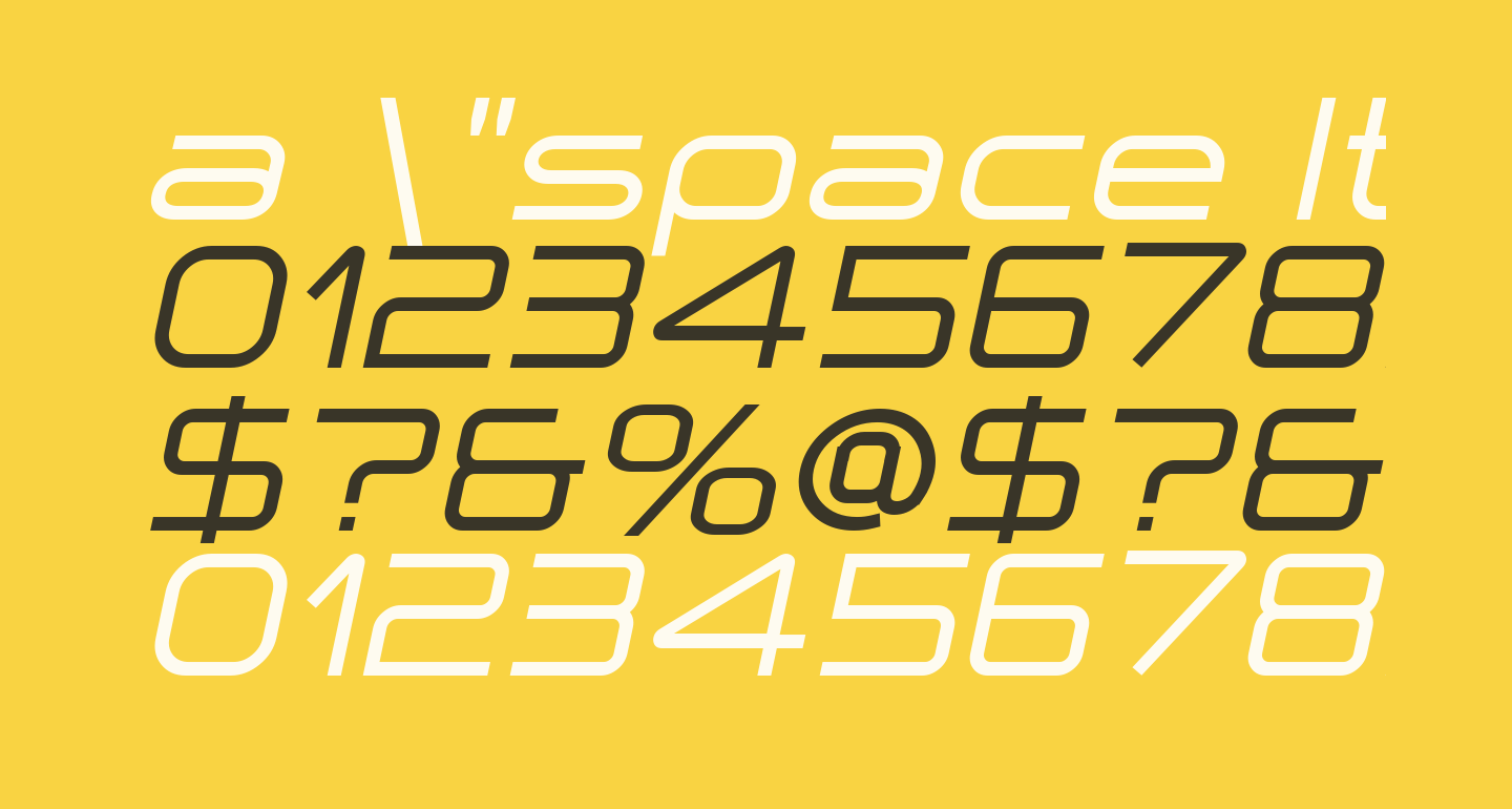 a 'space Italic