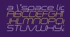 a 'space light Italic