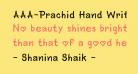 AAA-Prachid Hand Written