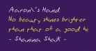 Aaron's Hand