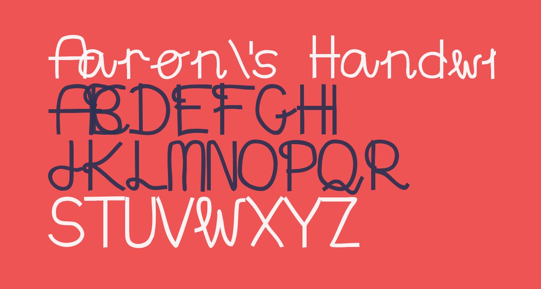 Aaron's Handwriting Bold