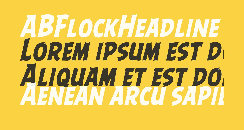 ABFlockHeadline Bold Italic