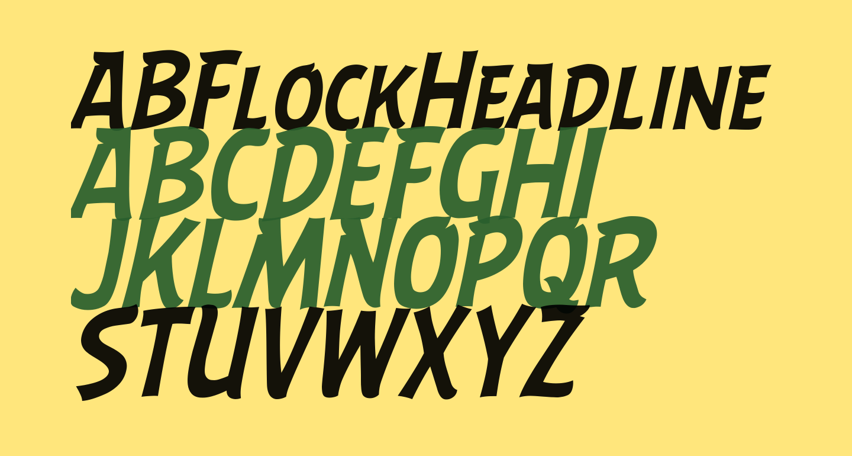 ABFlockHeadline Italic