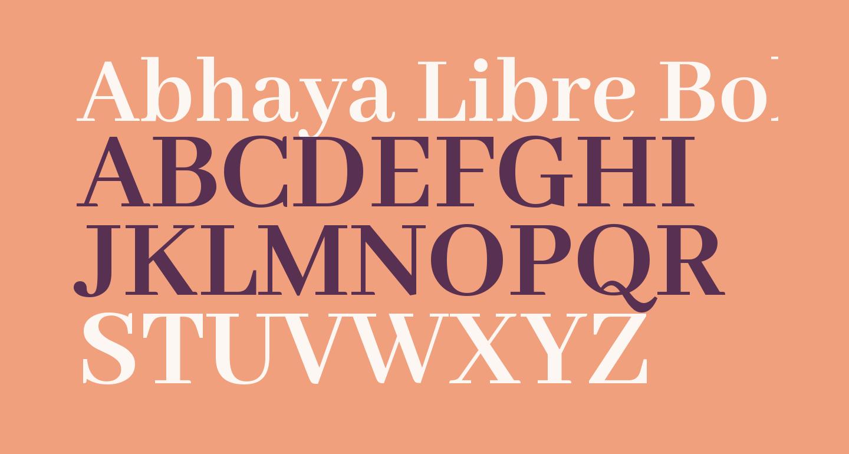 Abhaya Libre Bold