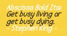 Abscissa Bold Italic