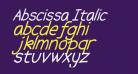 Abscissa Italic