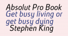 Absolut Pro Book Italic reduced