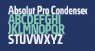 Absolut Pro Condensed Bold reduced