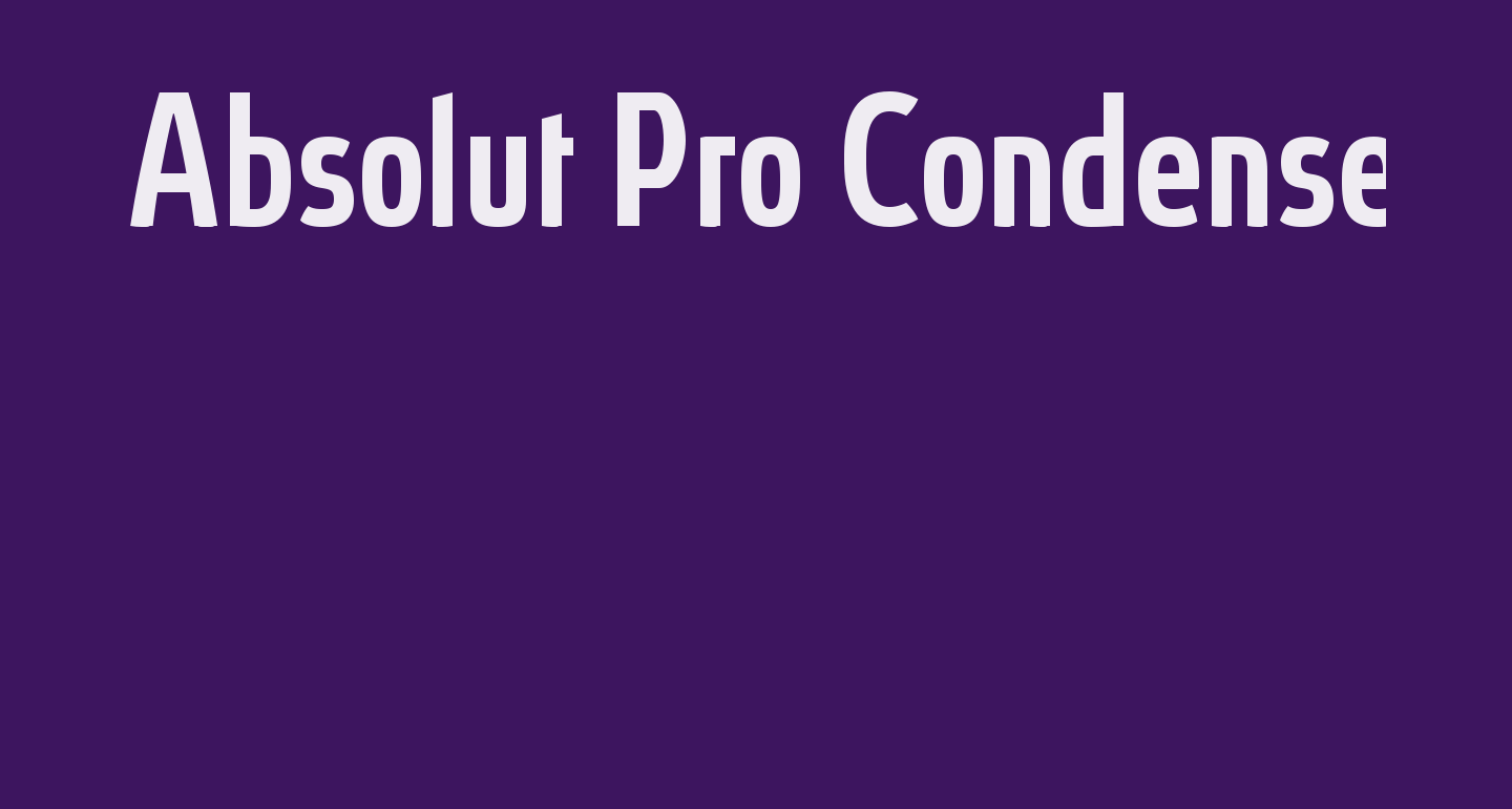 Absolut Pro Condensed Medium reduced