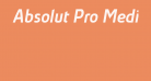 Absolut Pro Medium Italic reduced