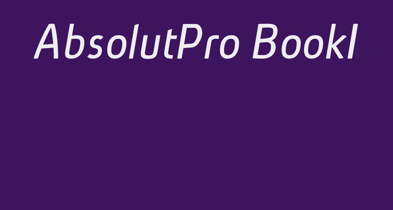 AbsolutPro-BookIt